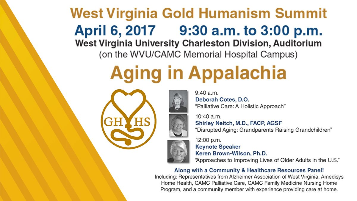 Gold Humanism Summit set for April 6, 2017 at WVU Charleston Campus