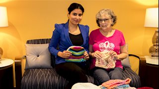 Grateful Patient Donates Hats To Patients At Mary Babb Randolph Cancer Center for the second year in a row