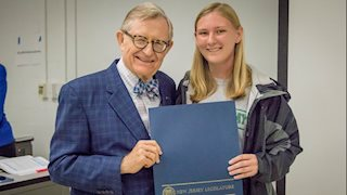 HIIM student recognized for saving life of drowning swimmer
