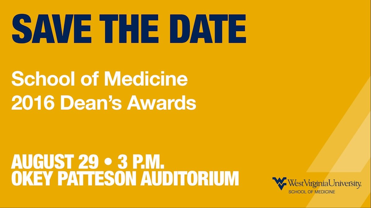 Honor your colleagues by attending the Dean's Awards Cermony