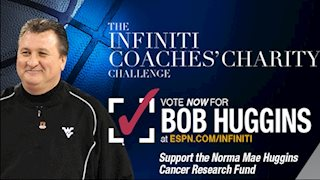 Huggins makes Round 3 in Infiniti Coaches' Charity Challenge