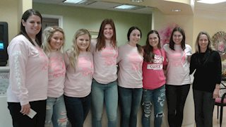 Jefferson-Morgan girl's volleyball team presents donation to Betty Puskar Breast Care Center