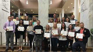 Kappa Psi members receive international recognition for their academic achievments