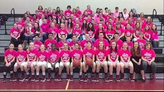 Lincoln Middle School basketball teams join Coach Huggins in fight against cancer