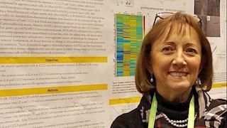 Linda Vona-Davis, PhD Teaching Assistant Professor presented a poster
