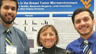 Linda Vona-Davis presents research at the San Antonio Breast Cancer Symposium