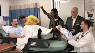 Medical students create Mannequin Challenge