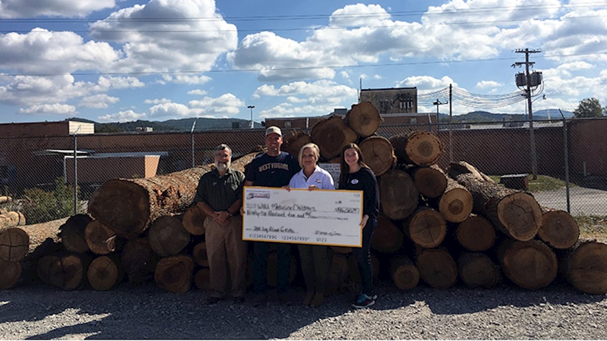 Mountain Loggers Group, Inc., makes donation to new WVU Medicine Children's tower