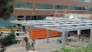 Moving right along: work continues on HSC cafeteria