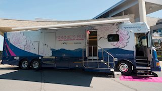 New Bonnie's Bus draws crowd at WVU Health Sciences Center