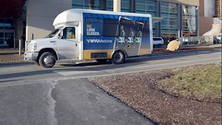 New look for WVU Medicine shuttle vans
