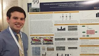 Patrick Thomas, one of WVU's undergraduate cancer researchers, presented his research at the Capital