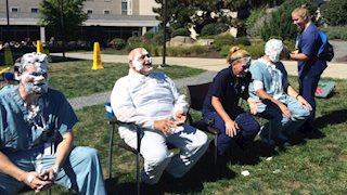 Pies in the face fundraiser benefits Rosenbaum Family House