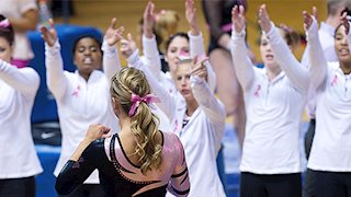 Promotions, Donation Options Planned for Pink Meet WVU Gymnastics