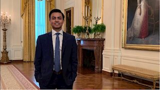 Public Health student interns at the White House