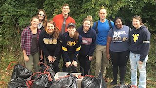 SAPH members participate in Rail Trail clean-up