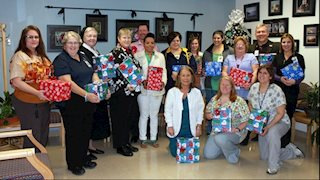 St. Joseph's Hospital donates children's boots to Upshur County Head Start
