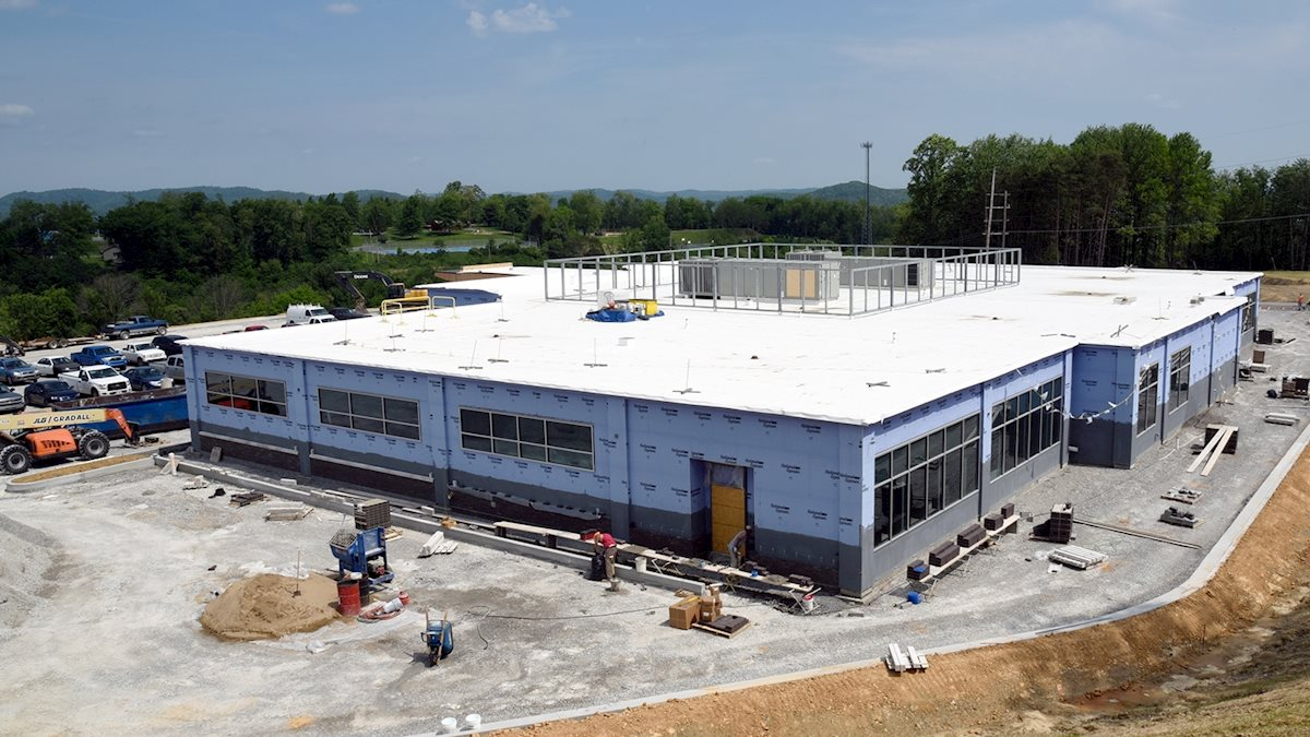 Structure in place for new WVU Medicine Fairmont clinic; photo gallery available