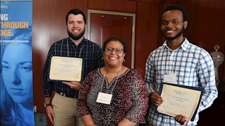 Students inducted in the newly created Van Liere Research Society