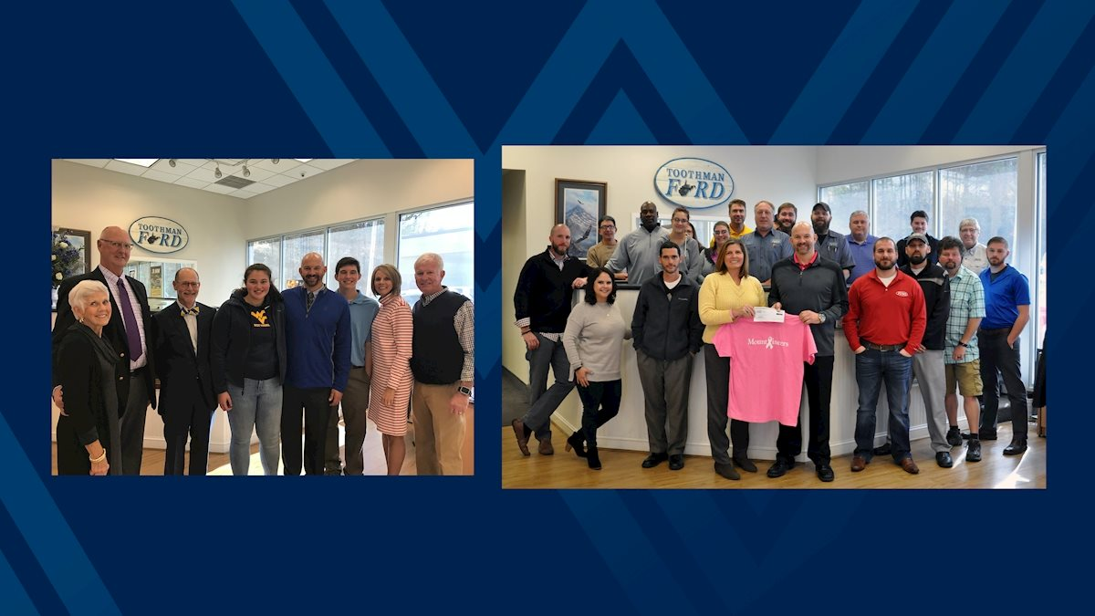 Toothman Ford donation supports WVU Medicine Children's, WVU Cancer Institute