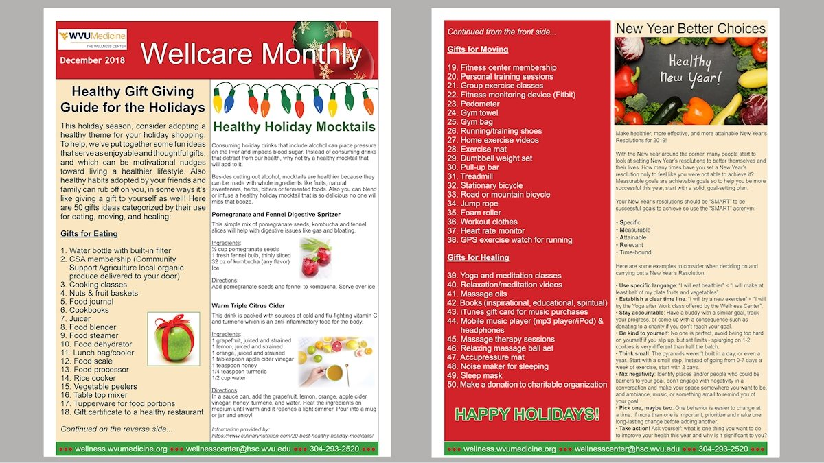 Wellcare Monthly December 2018 Edition | School of Medicine | West