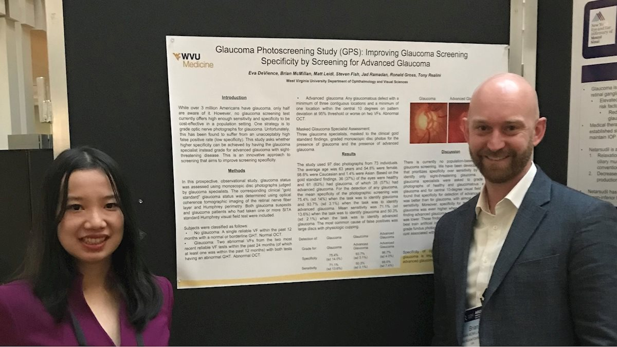 WVU Eye Institute's Glaucoma Group Work Presented at the American Glaucoma Society