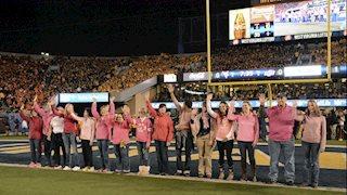 WVU Football goes pink