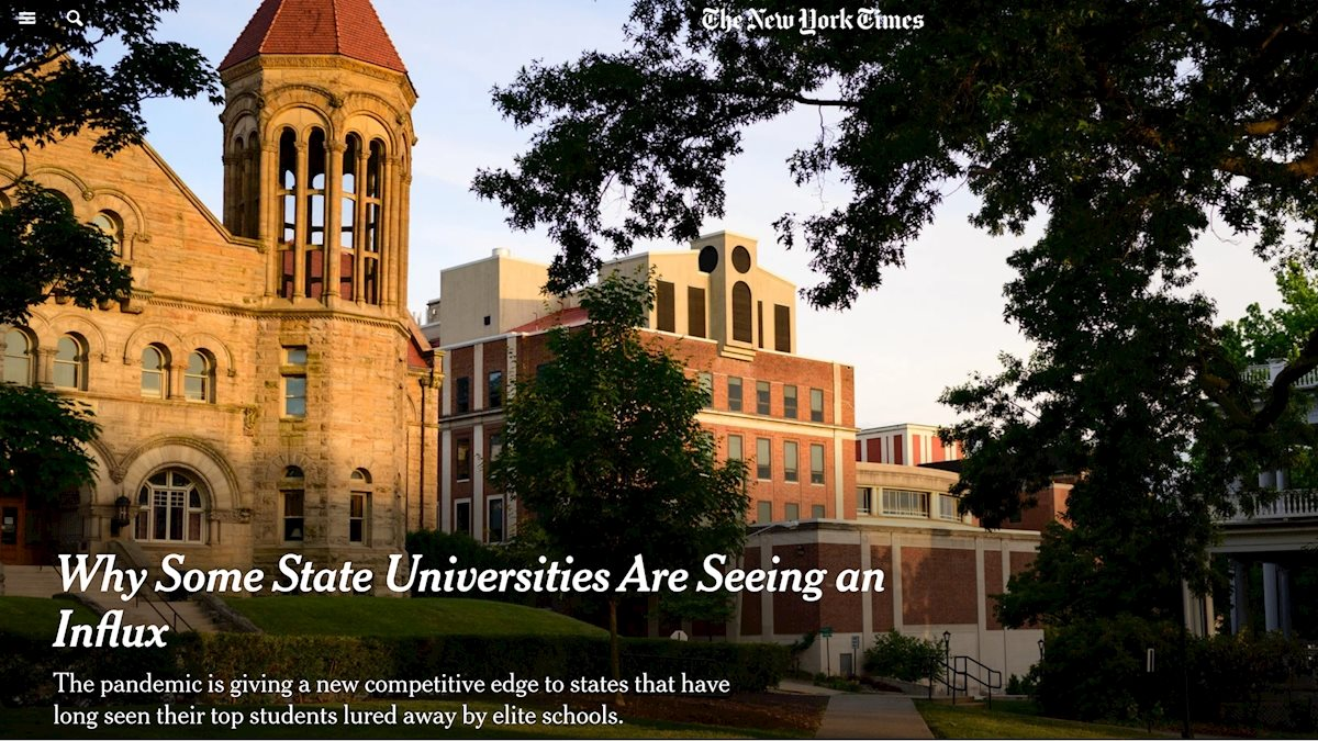 WVU in the News: Why Some State Universities Are Seeing An Influx
