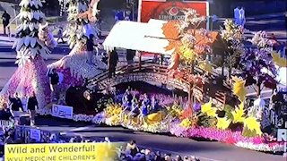 WVU Medicine Children's float adds to Rose Bowl pageantry