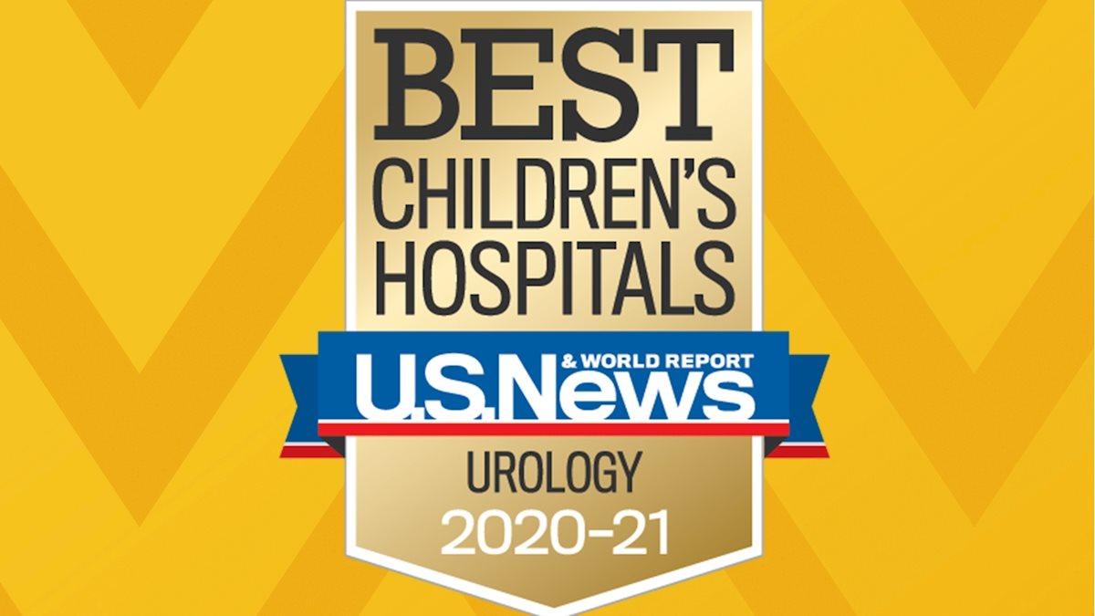 WVU Medicine Children's ranks 37th in Pediatric Urology in U.S. News & World Report 2020-21 Best Children's Hospitals