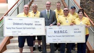 WVU Medicine valets donate tips to WVU Cancer Institute, WVU Medicine Children's