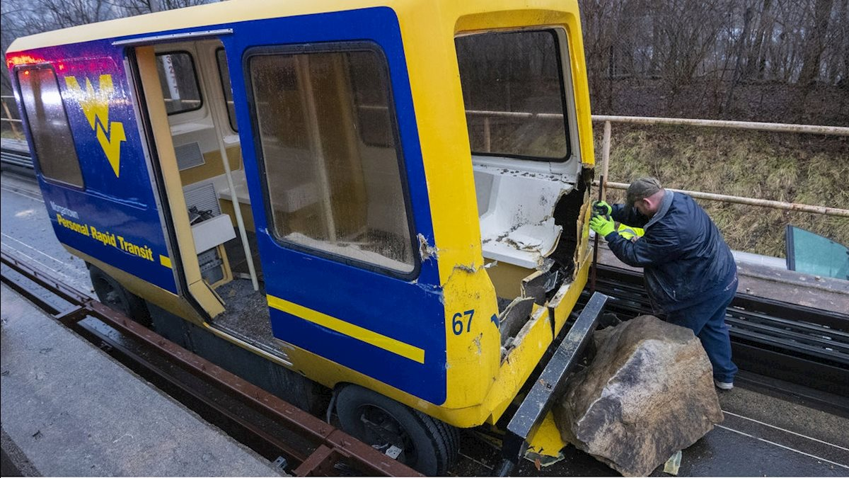 WVU Personal Rapid Transit (PRT) updates following rock slide