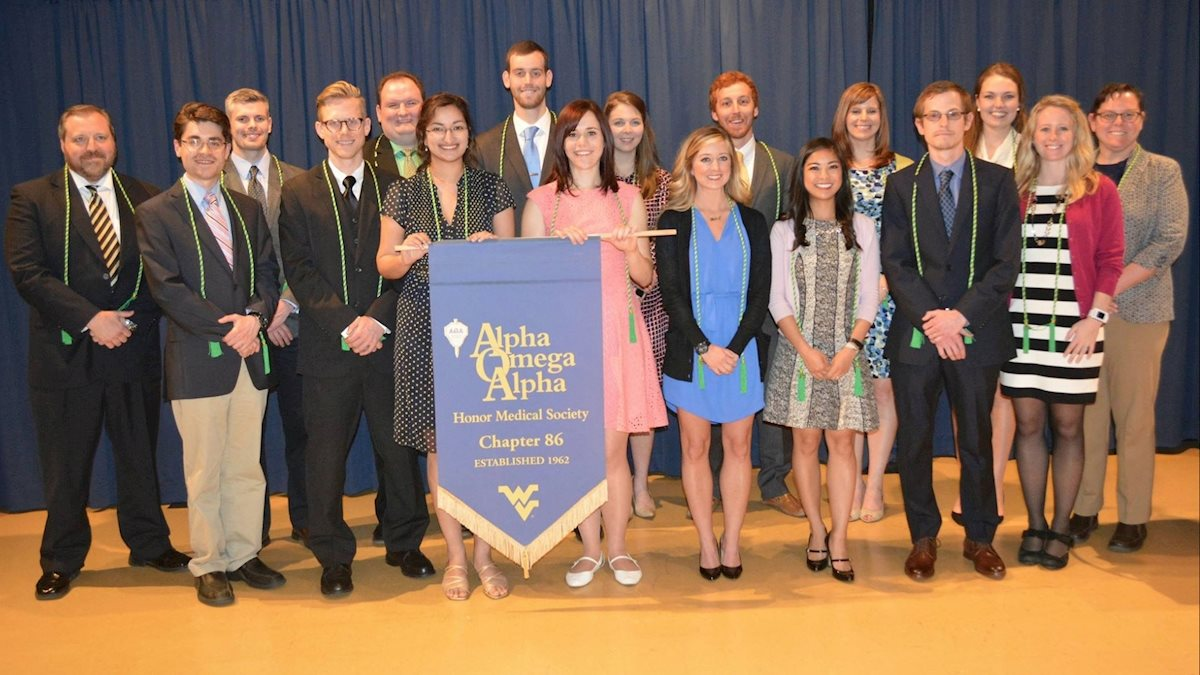 WVU School of Medicine Alpha Omega Alpha honor society inducts new members