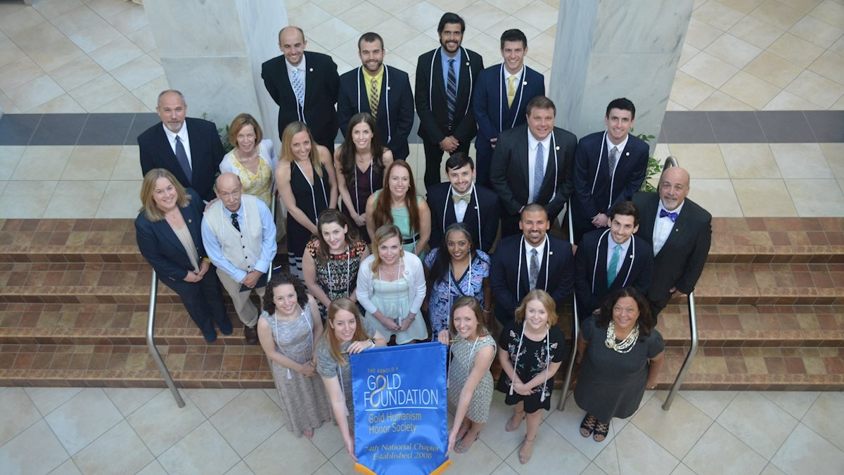 WVU School of Medicine inducts students, residents and faculty into Gold Humanism Honor Society