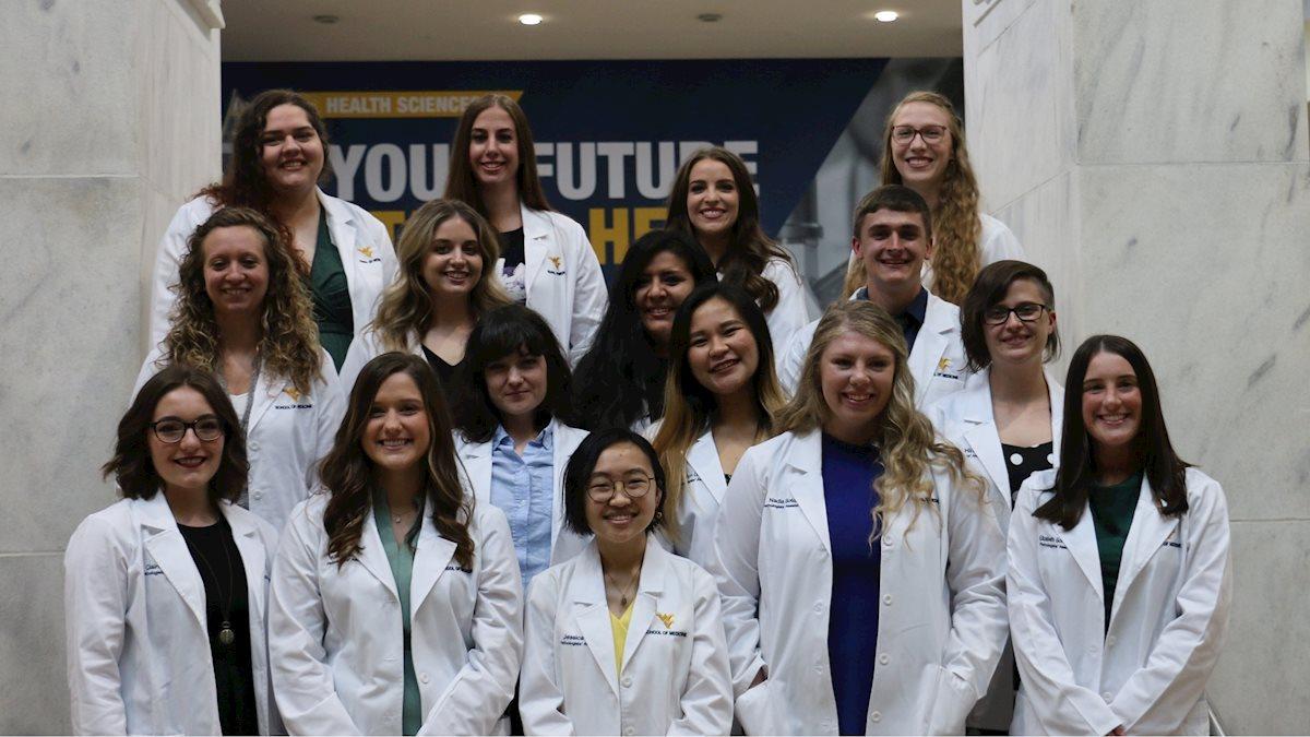 WVU School of Medicine Pathologists' Assistant Program holds rescheduled White Coat Ceremony