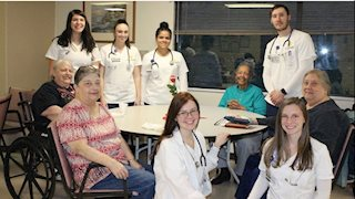 WVU School of Nursing students provide health education to Keyser residents.