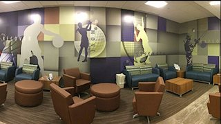 WVU Sports Medicine waiting room debuts wall art