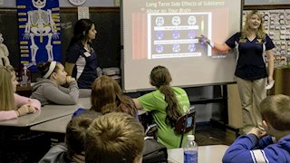 WVU student pharmacists educate youth about substance and prescription drug abuse