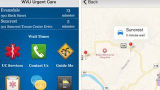 WVU Urgent Care app available on iPhone and Android
